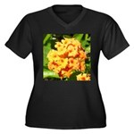 Lantana Orange Explosion Cluster Plus Size T-Shirt