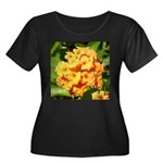 Lantana Orange Explosion Cluster Plus Size T-Shirt