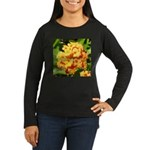 Lantana Orange Explosion Cluster Long Sleeve T-Shi