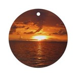 Sunset Ft Desoto Full Ornament (Round)