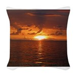 Sunset Ft Desoto Full Woven Throw Pillow