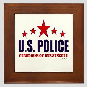 U.S. Police Guardians Of Our Streets Framed Tile