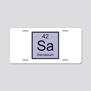 Sa Sarcasium Element Aluminum License Plate