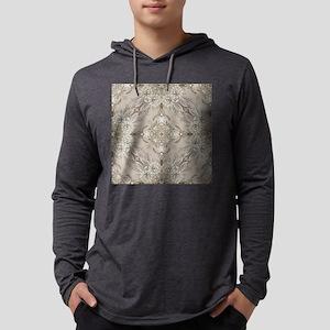 glamorous girly Rhinestone lace Mens Hooded Shirt