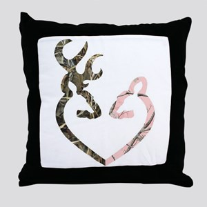 Deer Heart Throw Pillow