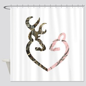 Deer Heart Shower Curtain