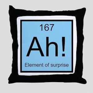 Ah! Element of Surprise Throw Pillow