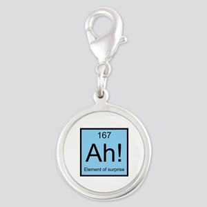 Ah! Element of Surprise Silver Round Charm