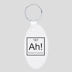 Ah! Element of Surprise Aluminum Oval Keychain