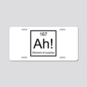 Ah! Element of Surprise Aluminum License Plate