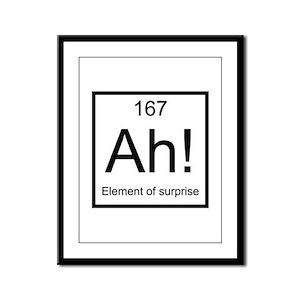 Ah! Element of Surprise Framed Panel Print