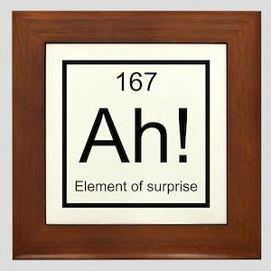 Ah! Element of Surprise Framed Tile