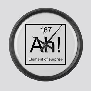 Ah! Element of Surprise Large Wall Clock