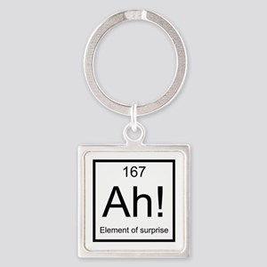 Ah! Element of Surprise Square Keychain
