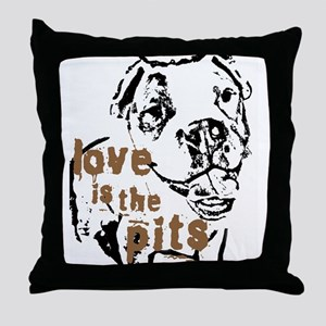 Love is the Pits Throw Pillow
