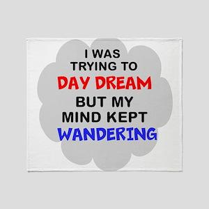 wandering mind II Throw Blanket