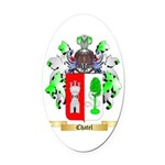 Chatel Oval Car Magnet