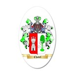Chatel 35x21 Oval Wall Decal