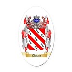 Chatain Oval Car Magnet