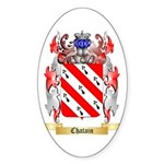 Chatain Sticker (Oval 10 pk)