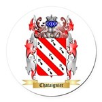Chataignier Round Car Magnet