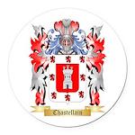 Chastellain Round Car Magnet