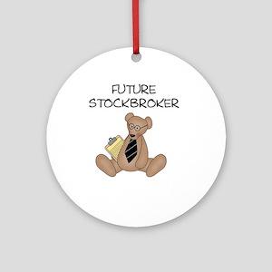 Future Stockbroker Ornament (Round)