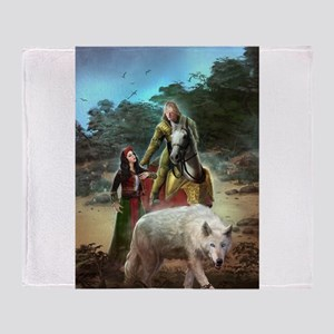 The White Wolf Propphecy Lovers Throw Blanket