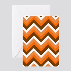 'Retro Zigzag' Greeting Card