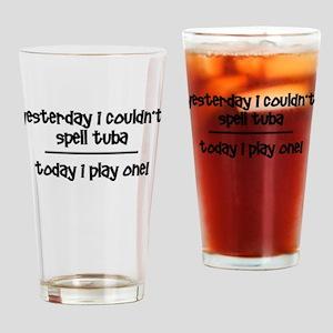 Funny tuba Drinking Glass