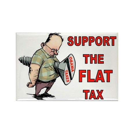 FLAT TAX Rectangle Magnet (10 pack)