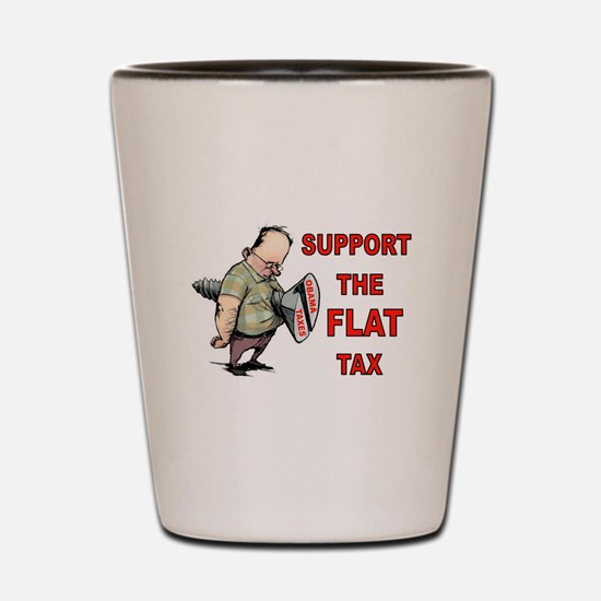 FLAT TAX Shot Glass