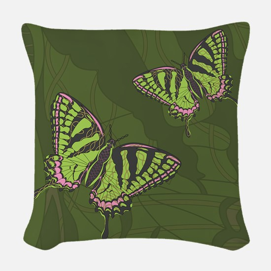 Celtic Swallowtail Woven Throw Pillow