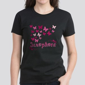 Butterfly Saxophone Women's Dark T-Shirt