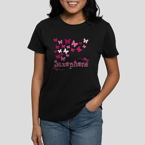 Butterfly Saxophone Women's Dark T-Shirt