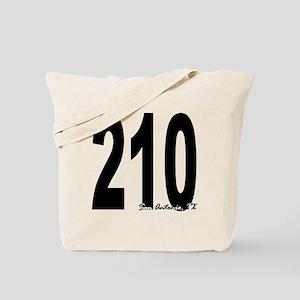 210 San Antonio Area Code Tote Bag