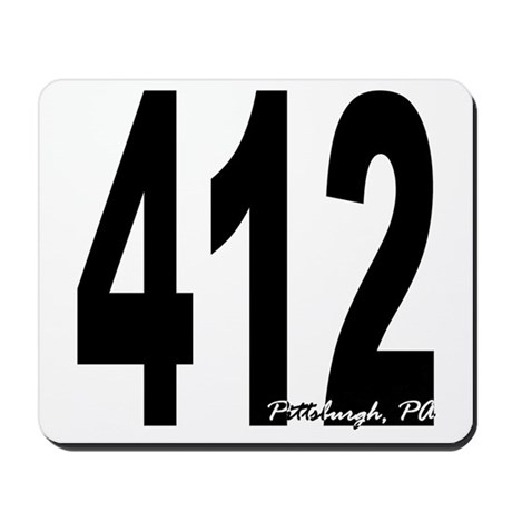 412 Pittsburgh Area Code Mousepad