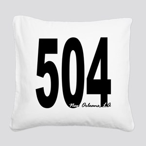 504 New Orleans Area Code Square Canvas Pillow
