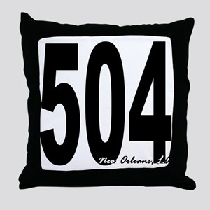 504 New Orleans Area Code Throw Pillow