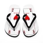 Ace Of Hearts Flip Flops