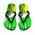 Lime Frozen Fruit Sicle Flip Flops
