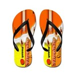 Orange Frozen Fruit Sicle Flip Flops