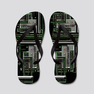 Techno Tekno Digital Flip Flops