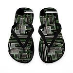 Techno Tekno Digital Flip Flops