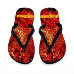 Mosaic Flames Flip Flops