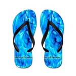 Blue Angel Flames Flip Flops