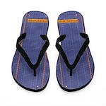 Blue Jean Denim Flip Flops
