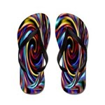 Sixties 1960's Peace and Love Flip Flops