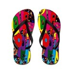 60's Peace and Love Flip Flops