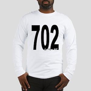 702 Las Vegas Area Code Long Sleeve T-Shirt